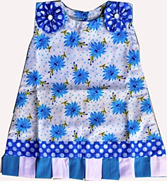 09ceed691 Helloyellow Kids Clothing Cotton Baby Girl Blooming Flowers Handmade Frock  (Gc104-Extra Small -