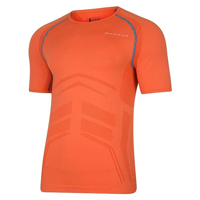 Dare 2B Mens Metrical Active Short Sleeve T-Shirt (XS) (Pumpkin Orange