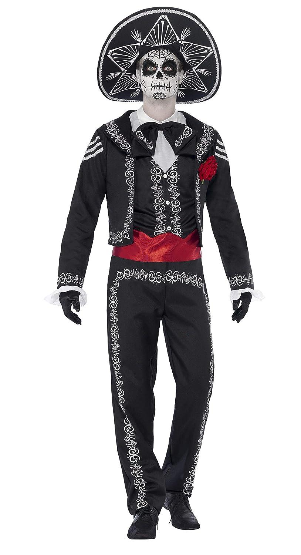 Smiffys 43738M - Día de Muertos Señor Bones - Disfraz para adultos, talla M