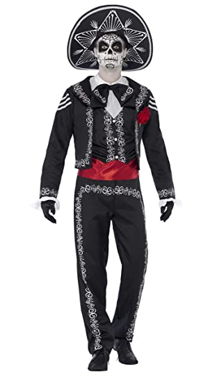 ff11a49789 Smiffys Adult men s Day of the Dead Señor Bones Costume