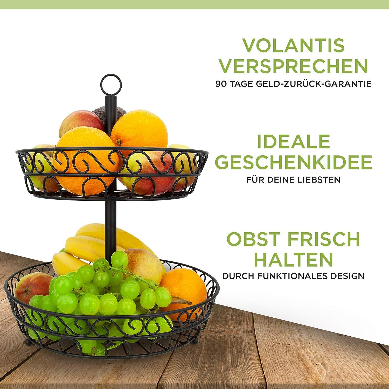 VOLANTIS Panier /à Fruits Noir