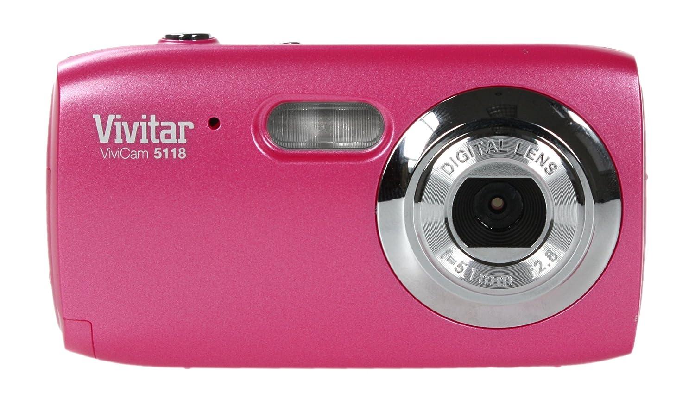 Amazon.com : Vivitar ViviCam 5118 - 5.1 Megapixels 4x Digital Zoom - Color  : Pink : Point And Shoot Digital Cameras : Camera & Photo
