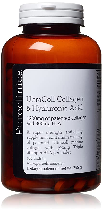1500 mg en 180 tabletas, 1200 mg de colágeno y 300 mg de ácido hialurónico