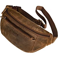 STILORD 'Bryce' Gran Riñonera Cuero Vintage Bolso de Cintura Hombre Bolsa Cadera o Cinturón para Deportes Running…