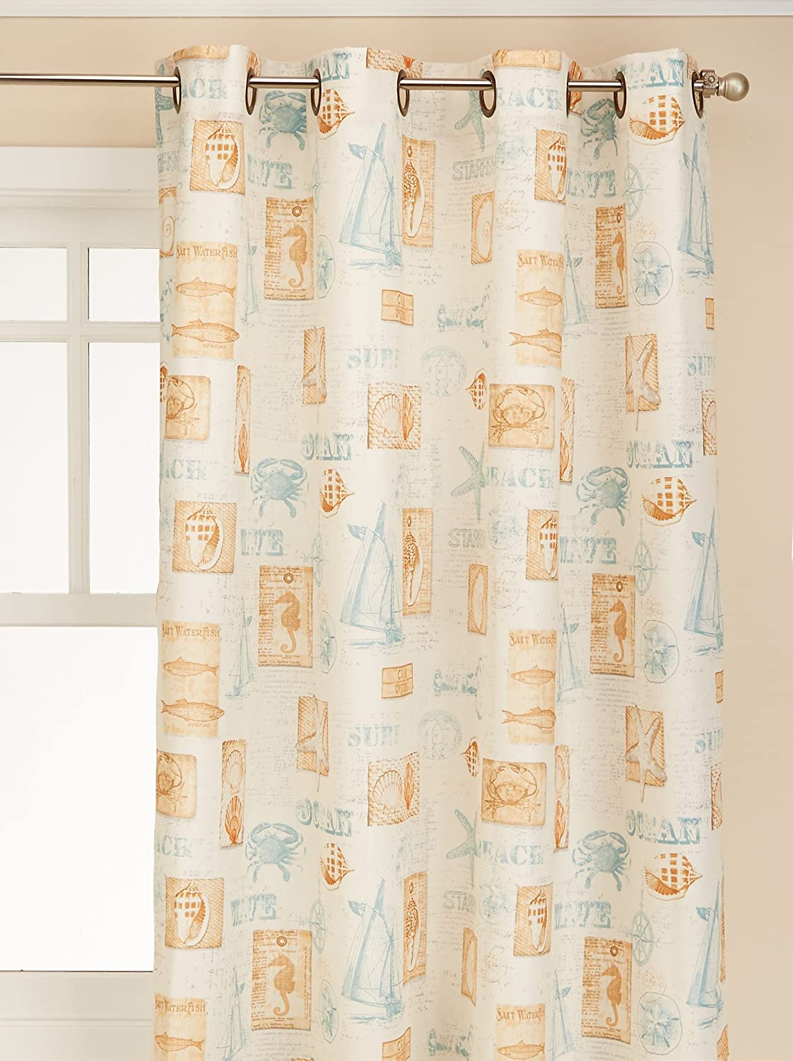LORRAINE HOME FASHIONS by The Sea Valance, 60 by 12-Inch 00113-V-000003