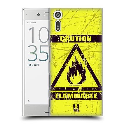 Amazon Head Case Designs Flammable Hazard Symbols Hard Back