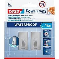 tesa 59780-00000-00 Powerstrips Waterproof Hooks rechthoekig, metaal, S