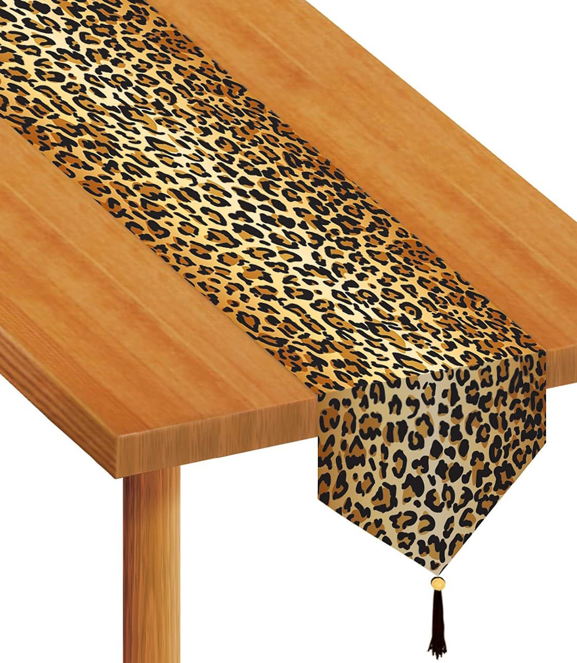 Beistle 57848 Printed Leopard Print Table Runner, 11-Inch by 6-Feet
