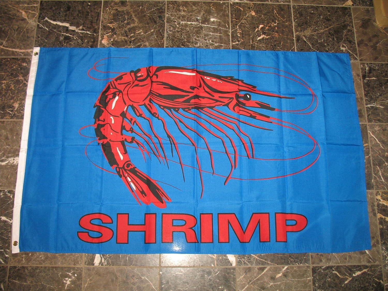 3X5 Advertising Shrimp Blue Seafood Restaurant Flag 3'X5' Banner Brass Grommets
