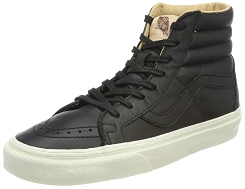 Vans Sk8-Hi Reissue, Sneaker Unisex-Adulto, Marrone (Lux Leather/Shaved Chocolate/Porcini), 36.5 EU