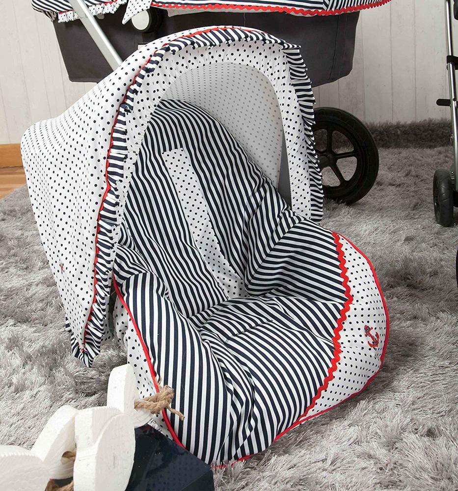 Babyline Marinero color azul marino//rojo Colchoneta para silla grupo 0