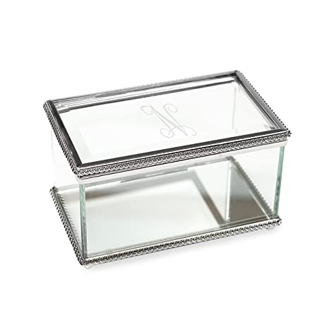 Amazoncom Cathys Concepts Personalized Beveled Glass Jewelry Box
