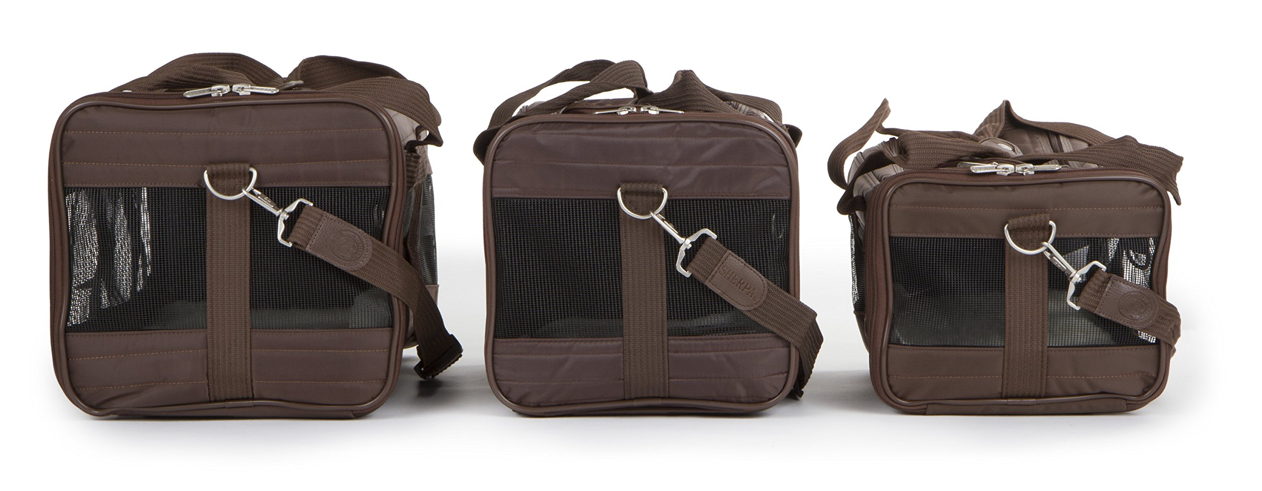 Sherpa Travel Original Deluxe Airline Approved Pet Carrier Small, Brown by Sherpa (Image #7)