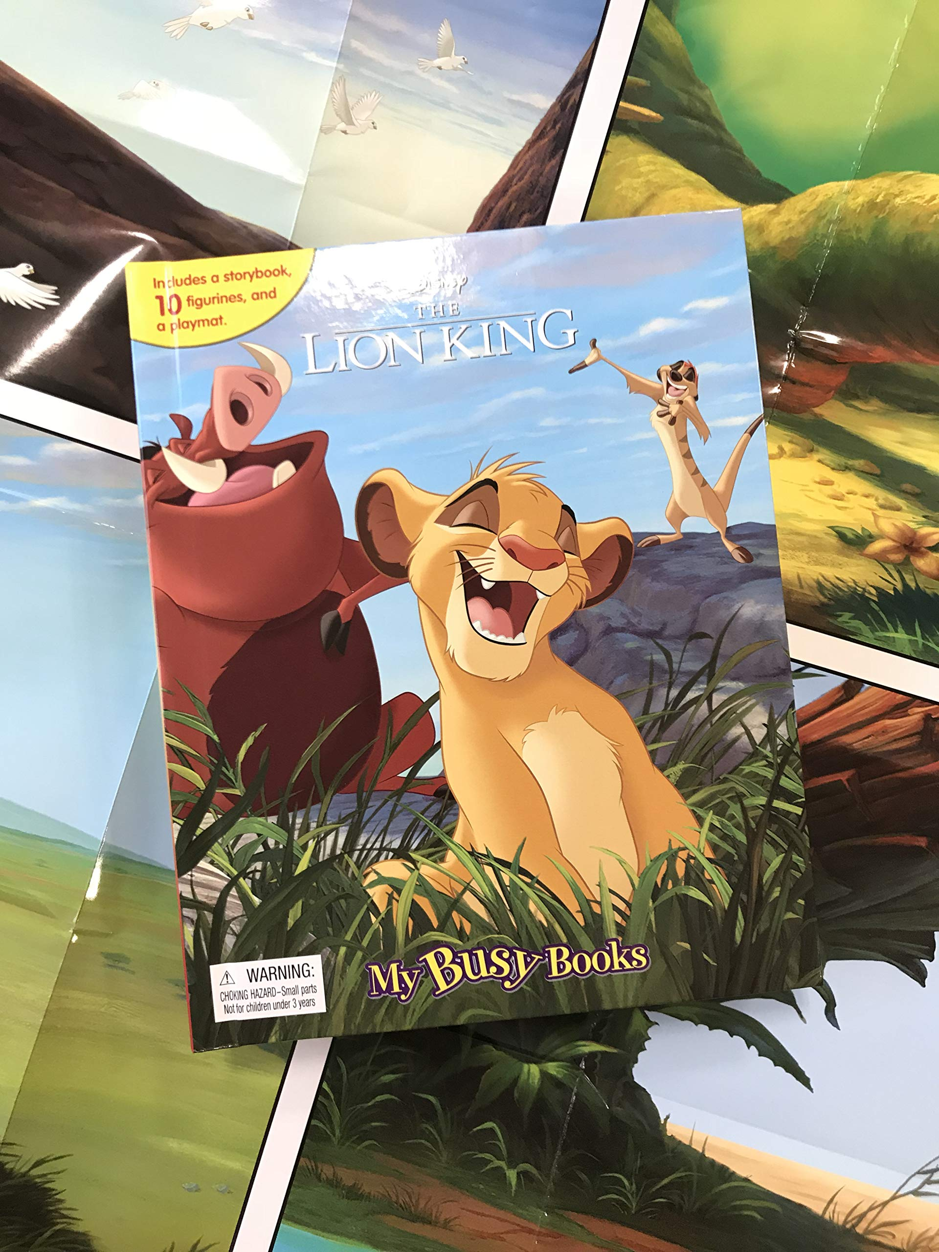 DISNEYS LION KING BUSY BOOK 10 FIGURES AND A PLAYMAT BRAND NEW FREE P+P