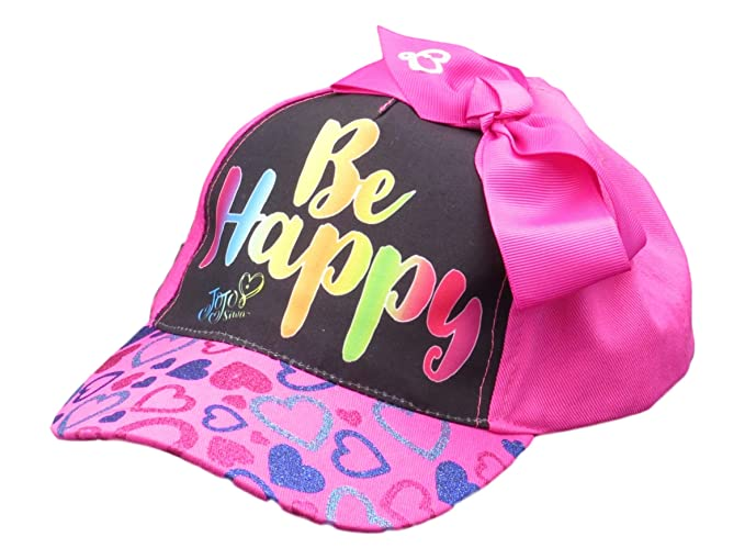 a0752d7e074 Image Unavailable. Image not available for. Color  ABG Accessories JoJo  Siwa Pink Be Happy Baseball Hat with Bow