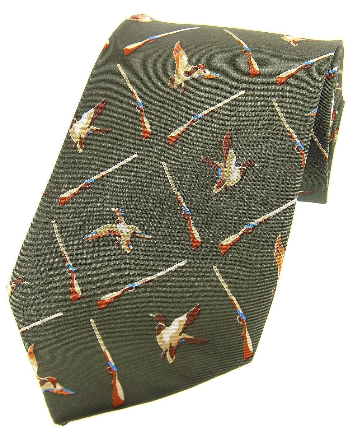 Soprano Country verde Flying patos país seda corbata: Amazon.es ...