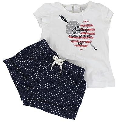 41b22abe11752c Polo Ralph Lauren - T-Shirt - Bébé (Fille) 0 à 24 Mois - Blanc - 18 Mois   Amazon.fr  Vêtements et accessoires