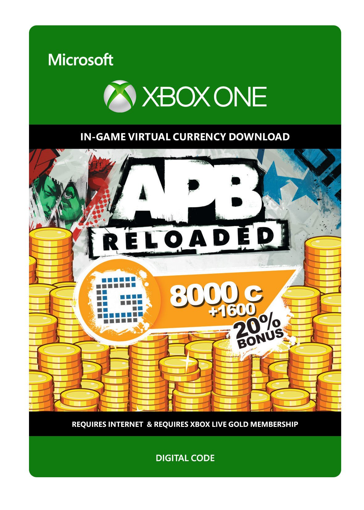 APB Reloaded 9600 G1C - Xbox One Digital Code