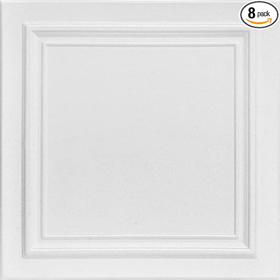 A La Maison Ceilings R24 Line Art Foam Glue Up Ceiling Tile 21 6 Sq Ft Case Pack Of 8 Plain White Home Improvement Amazon Com