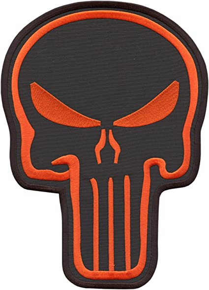 Army Tactical Morale Biker Motorcycle Patch Punisher Skull Black-Red Color