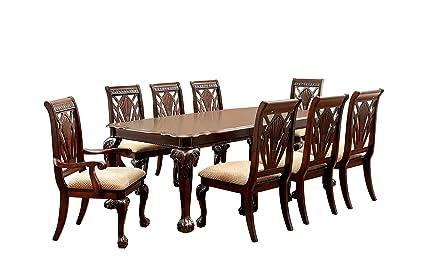 Furniture Of America Bonaventure 9 Piece Traditional Style Dining Set