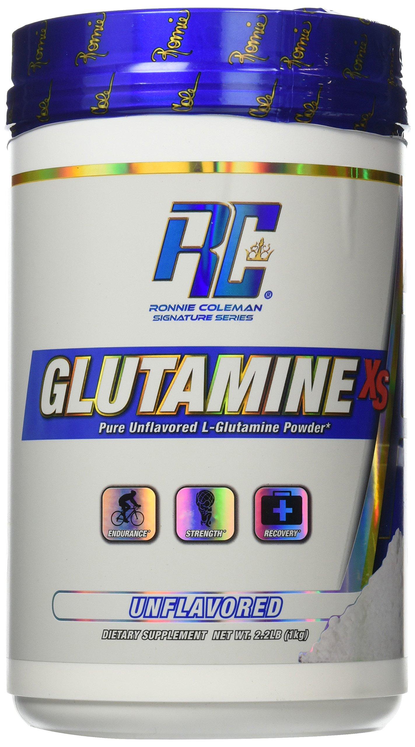 Ronnie Coleman Signature Series Glutamine-XS Creatine Monohydrate Powder, Unflavored, 1000 Gram