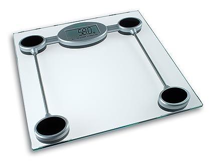 Medisana PSW - Báscula digital de baño electrónica, personal con excelente estabilidad, color gris metalizado y negro, Pila CR2032 incluida