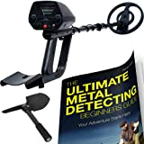 Waterproof Metal Detector With Pinpointer Shovel and Metal Detecting Guide