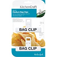 Kitchen Craft Small Binder-Style Plastic Food Bag Clips