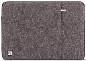 "DOMISO 13.3 inch Laptop Sleeve Case Waterproof Carrying Bag for 13"" MacBook Air 2014-2017/13.3"" ThinkPad L390 Yoga X380 Yoga/13.9"" Lenovo Yoga C930 Glass/HP EliteBook 830 G5 840 G5 x360 G2, Brown"