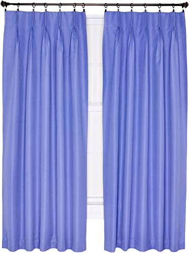 Ellis Curtain Crosby Thermal Insulated 144 by 84-Inch Pinch Pleated Foamback Curtains, Slate