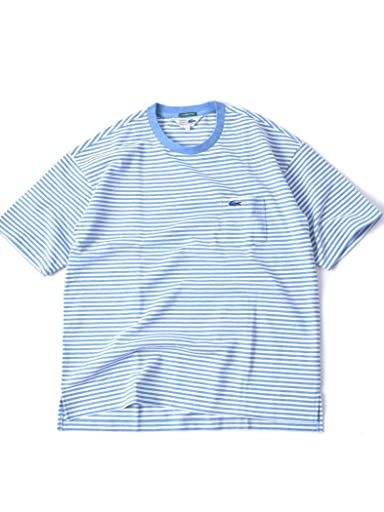 Drop Tail Pocket Tee 112-11-5024: Blue Stripe