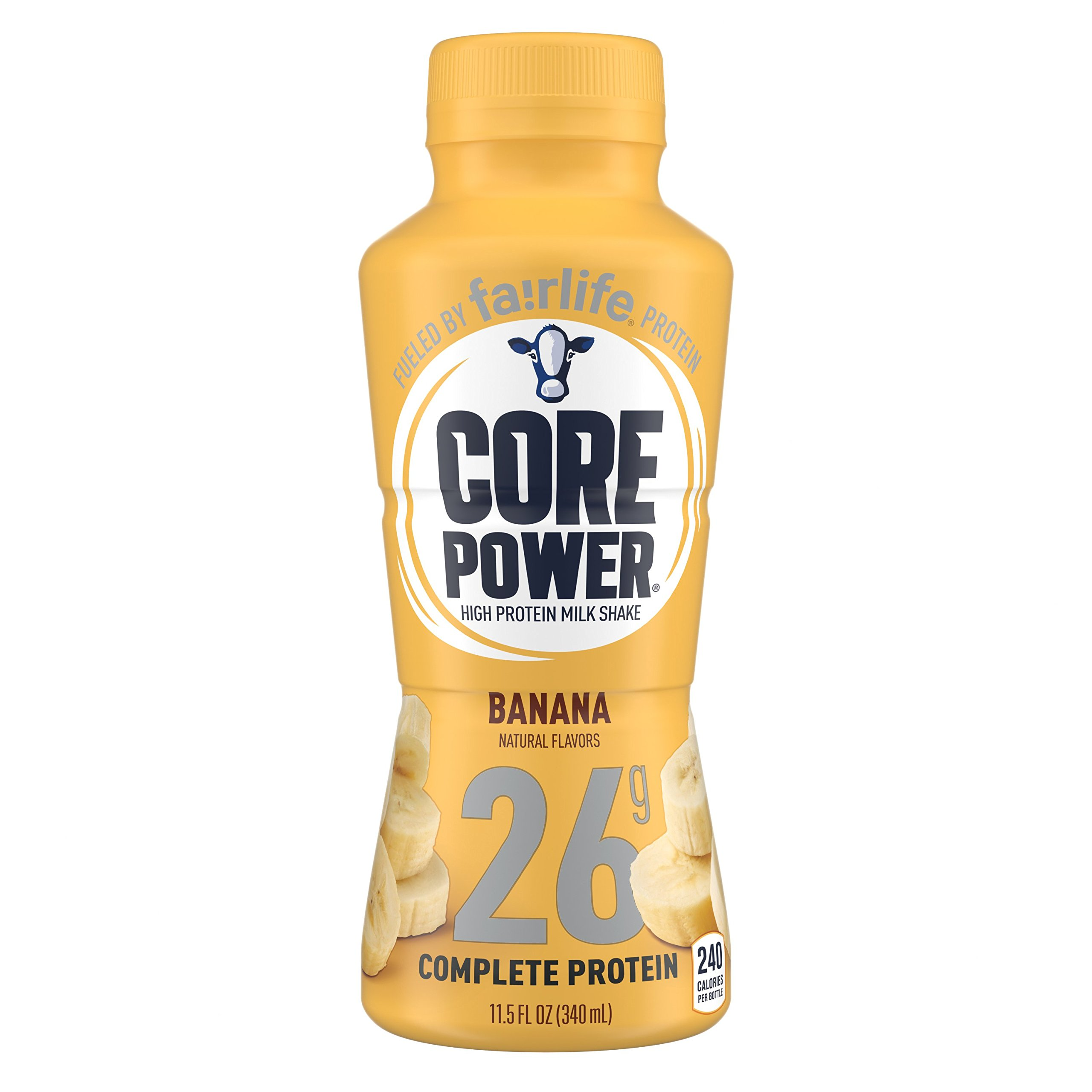 fairlife Core Power High Protein (26g) Milk Shake, Banana (Packaging May Vary), 11.5-ounce bottles,12 Count