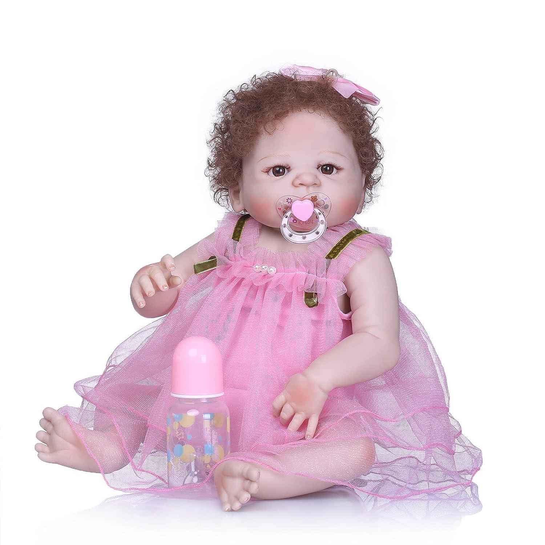 Barato Nicery B75 - Muñeca de bebé de vinilo de alta calidad, 50 – 55 cm, magnética, con diseño de boca para niños, impermeable, con traje para Acción de Gracias, color negro, frigorífico, Navidad, d