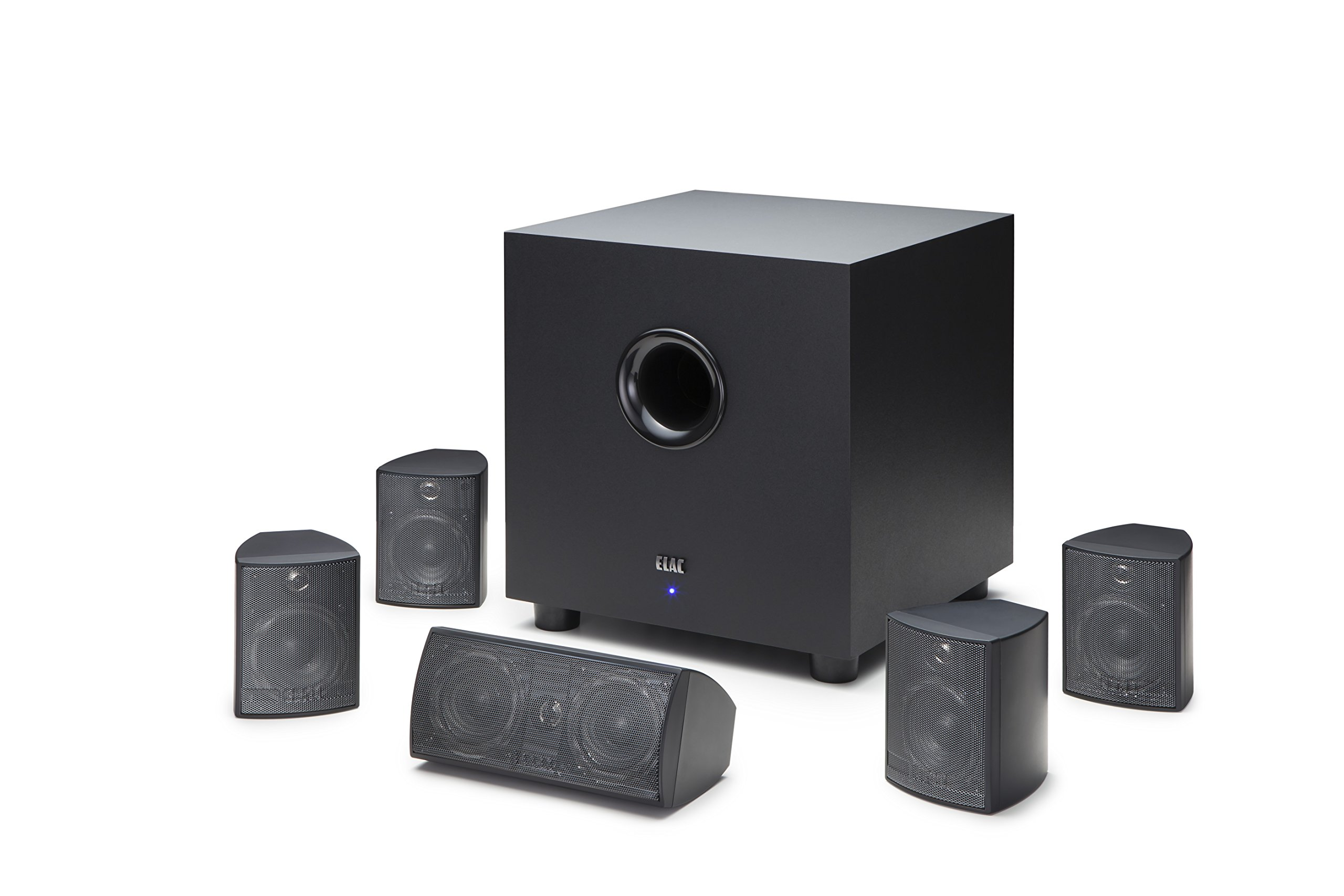 ELAC Cinema 5 Home Theater 5.1 Channel Speaker System (HT-C131W-K) by Elac