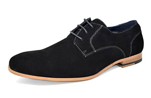 8966c7e7dafbb Bruno Marc CONSTIANO-1 New Men's Casual Plain Brogue Genuine Suede Leather  Classic Lace Up
