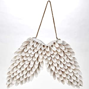 The Lakeside Collection Wood Curl Design Novelty Wall Hanging Angel Wings - Religious Home Accent