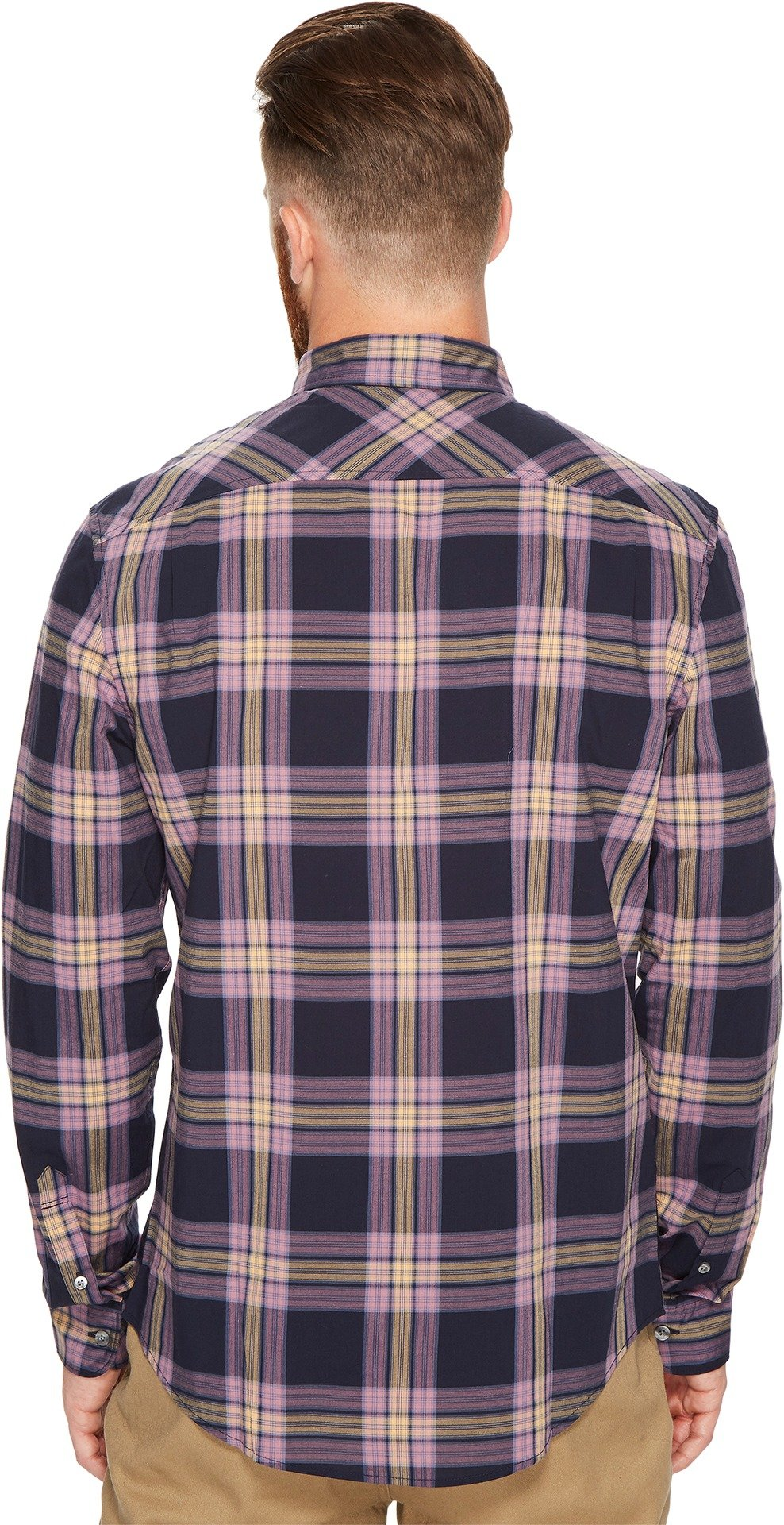 Original Penguin Men's Long Sleeve P55 Plaid Stretch Shirt, Dark Sapphire, Medium by Original Penguin (Image #3)
