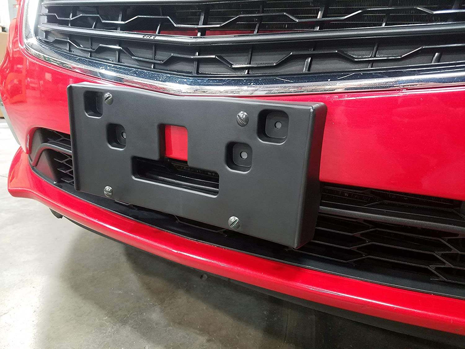 Red Hound Auto Front License Plate Bumper Mounting Bracket Compatible with Chevrolet Cruze 2015-2016 Includes Screws and Mounting Hardware