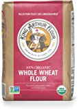 King Arthur Flour 100%s Organic Premium Whole Wheat Flour, 5 Pound