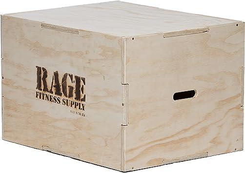 Rage Fitness 3 en 1 Madera Plyo Box 20