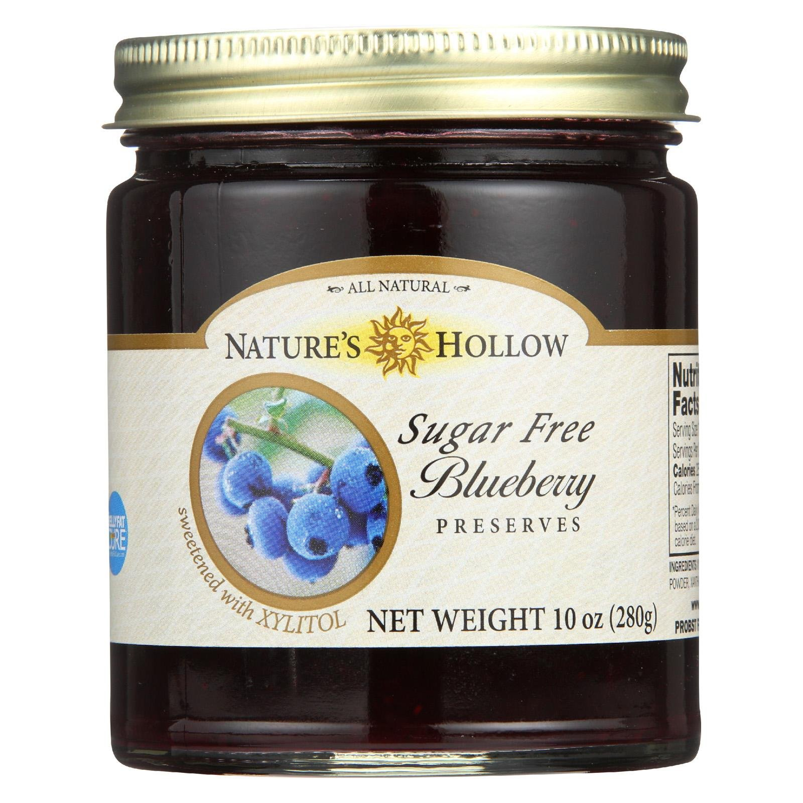 NATURE'S HOLLOW, PRESERVES, BLUEBERRY, SF - Pack of 6