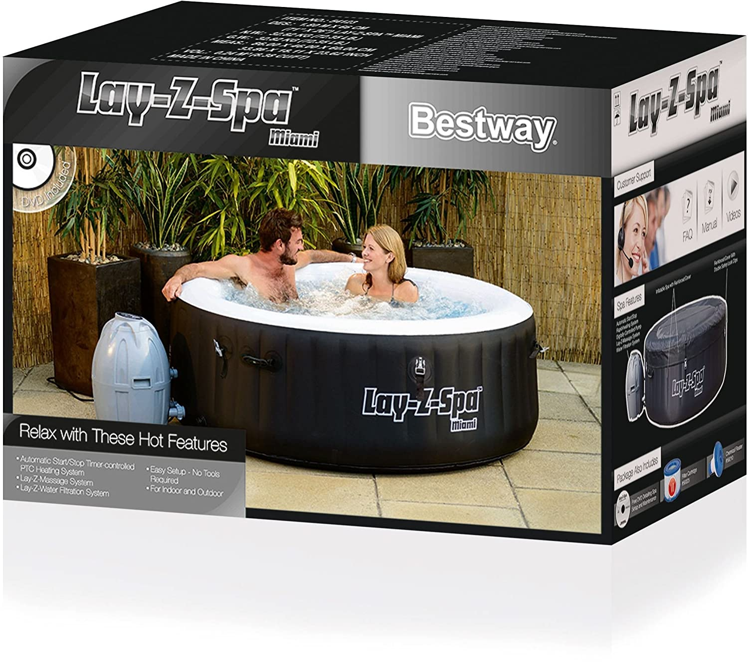 bestway lay z spa miami whirlpool im test aufblasbare whirlpools. Black Bedroom Furniture Sets. Home Design Ideas