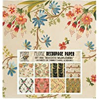 Decorative Printed Decoupage Paper Set Arts and Crafts Supplies A4 CrafTreat Beautiful Flower /& Sunflowers Decoupage Paper Pack for DIY Home D/écor Mixed Media Crafts 8pcs
