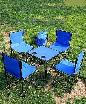 LIQICAI Plegable Portátil Camping/Picnic/Barbacoa/Playa al Aire Libre Table & Silla