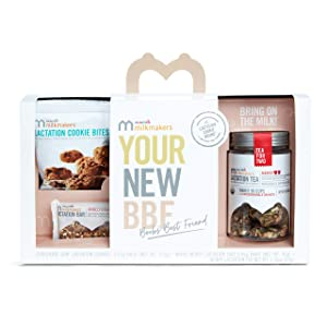 Munchkin Milkmakers Sampler Pack, Includes Lactation Cookies, Tea, & Bars, 6 Count (flavor may vary)