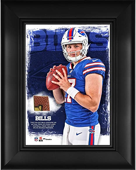 Josh Allen Buffalo Bills Framed 5 quot  x 7 quot  Player Collage with a  Piece of d9f40ebc0