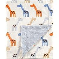 Hudson Baby Unisex Baby Plush Mink Blanket, Blue, One Size