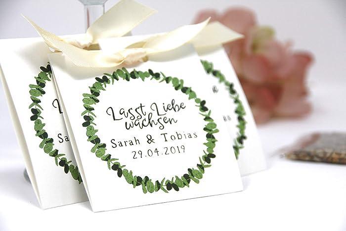 Gastgeschenke Zur Hochzeit Give Away Tischkärtchen Platzhalter