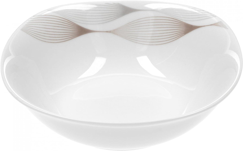 Lot de 6/Bo/îte de c/ér/éales Saladier Matrix 14,2/cm Porcelaine Blanc avec D/écor